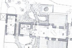 Esquisse d'aménagement d'un jardin